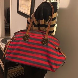 Dooney & Bourke Rare Canvas Stripe Tote